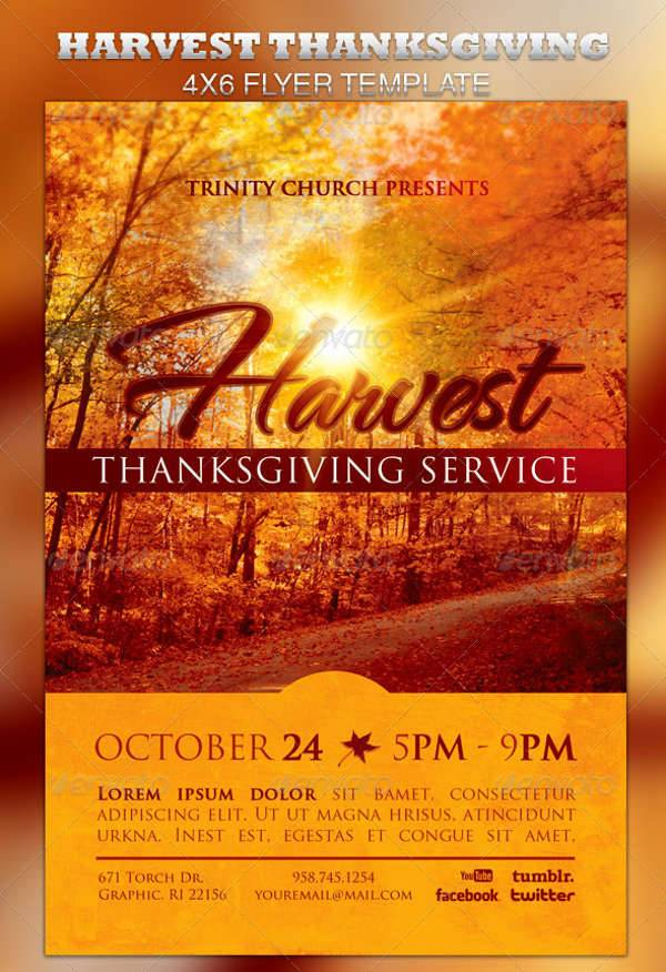 Harvest Thanksgiving Services Flyer