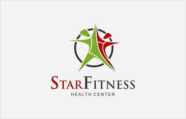 Health & Fitness Star Logo