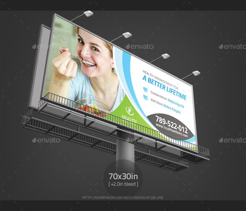 health medical care billboard outdoor banner