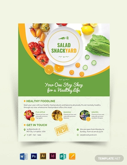 healthy food diet flyer