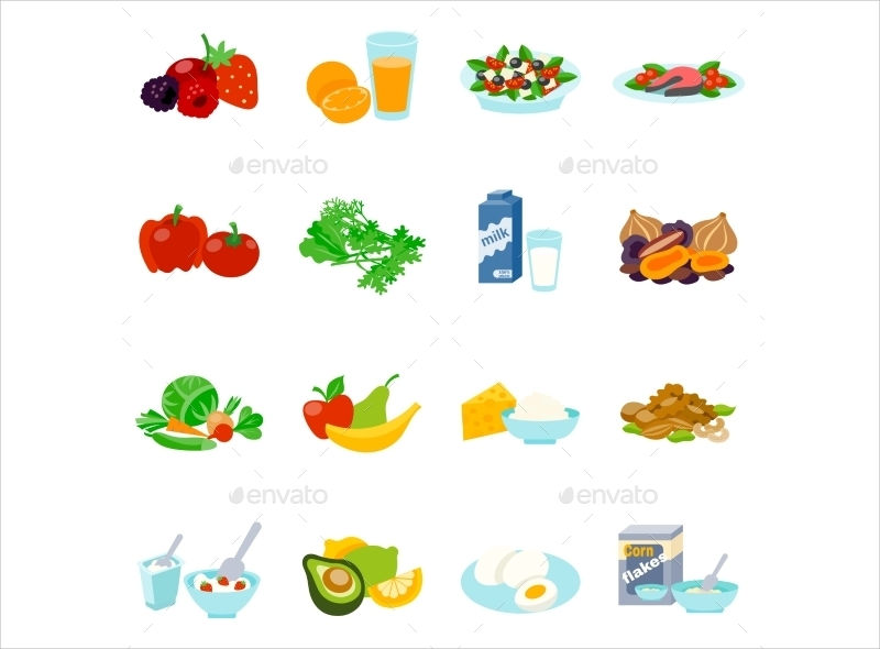 healthy food icons1