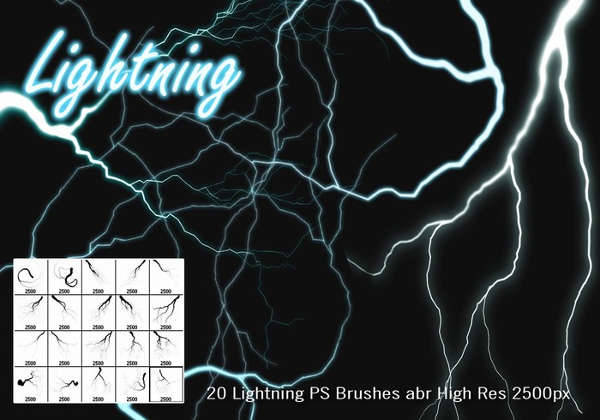 High Res Lightning Brushes