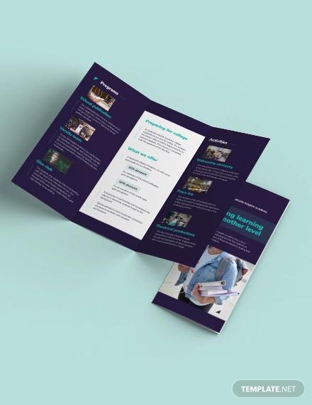 high school tri fold brochure template