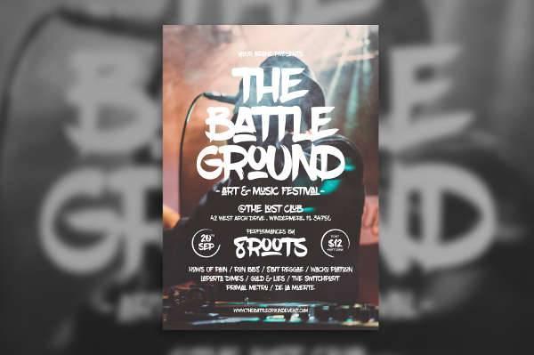 Hip Hop Music Event Flyer