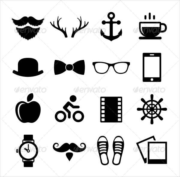 hipster vintage icons