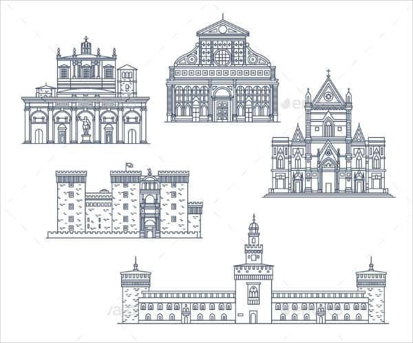 historic architecture icons