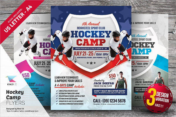 Hockey Camp Flyer Design