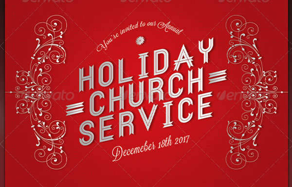 Holiday Church Service Flyer