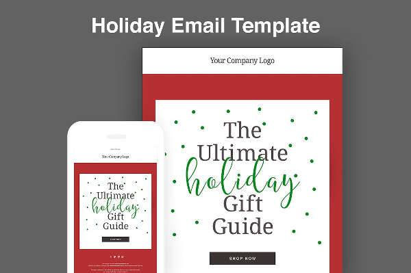 Holiday Email Template Design
