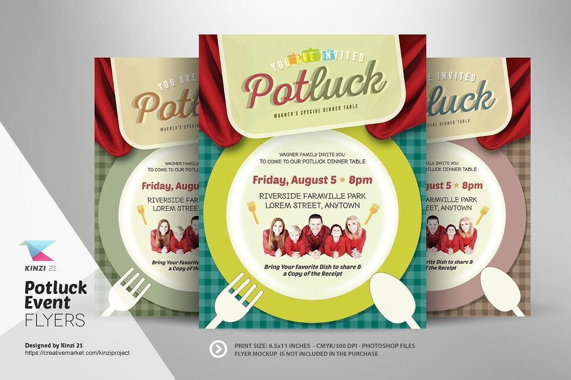 Holiday Potluck Flyer