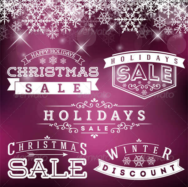 Holiday Sale Labels