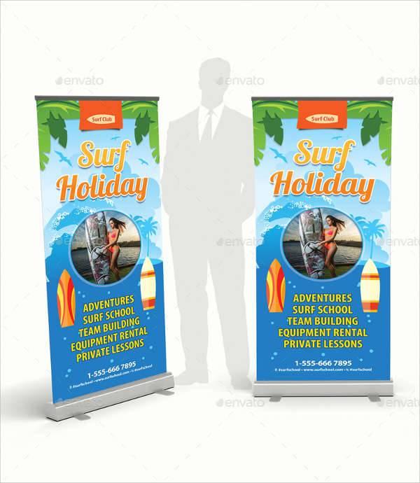 holiday vacation banner ad