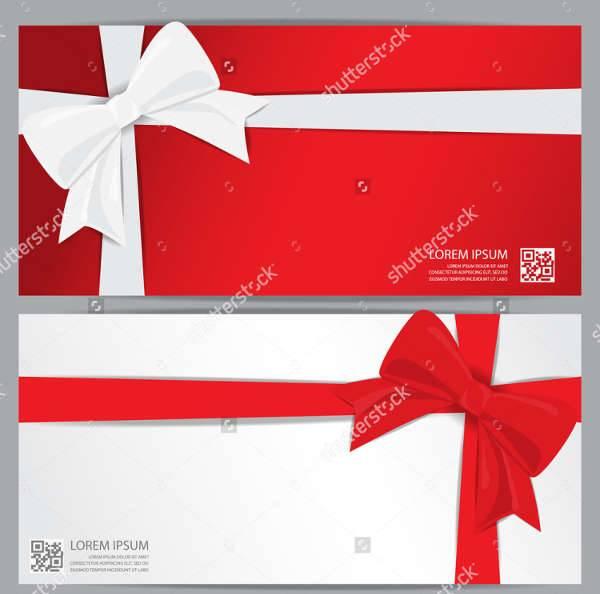 Holiday Voucher Card Template