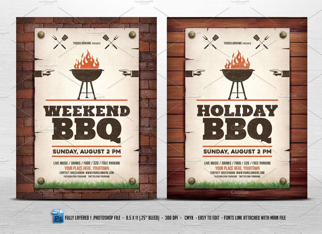 Holiday Weekend Flyer