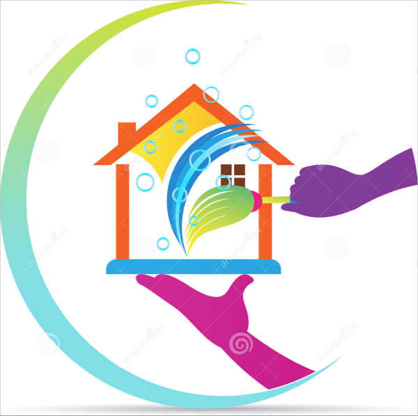 home cleaning company logo