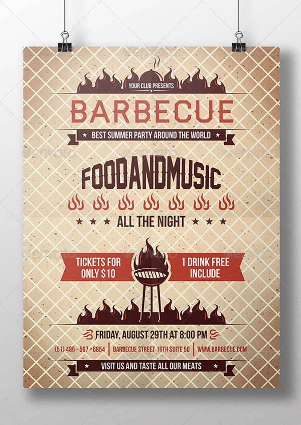 Hot Summer BBQ Party Flyer