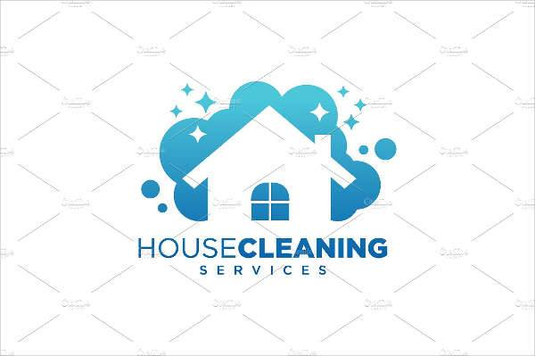 house cleaning service business logo