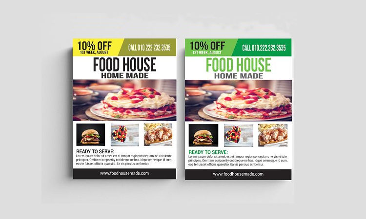 House Food Flyer