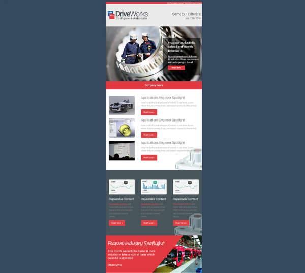 html5 responsive newsletter