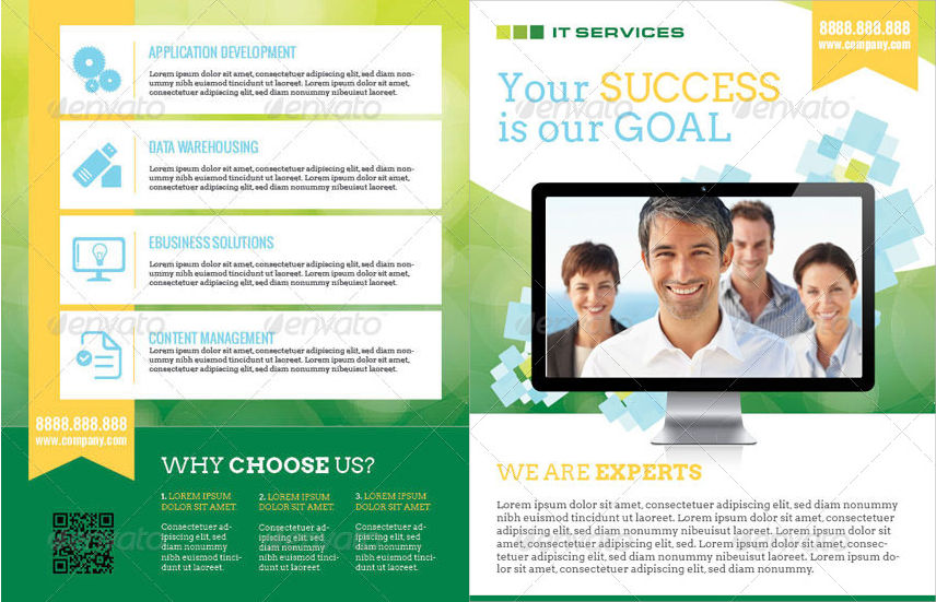 IT Services Double Sided Flyer
