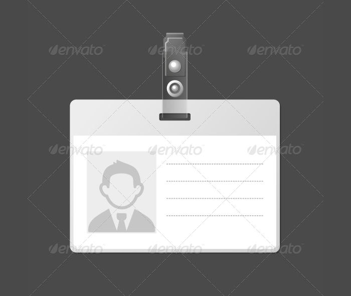 Identification Card Badge Template