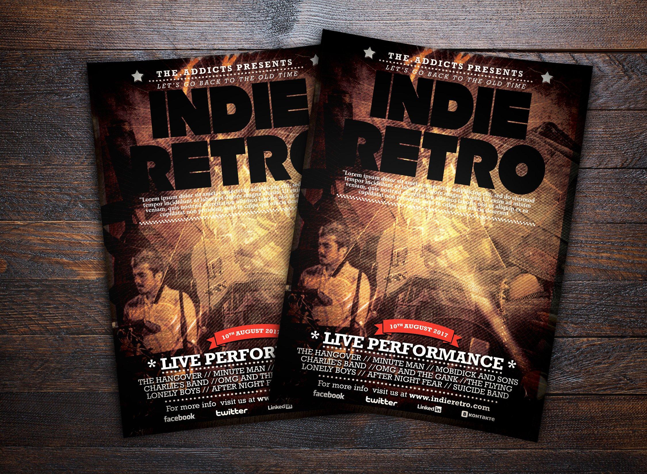 Indie Retro Music Flyer