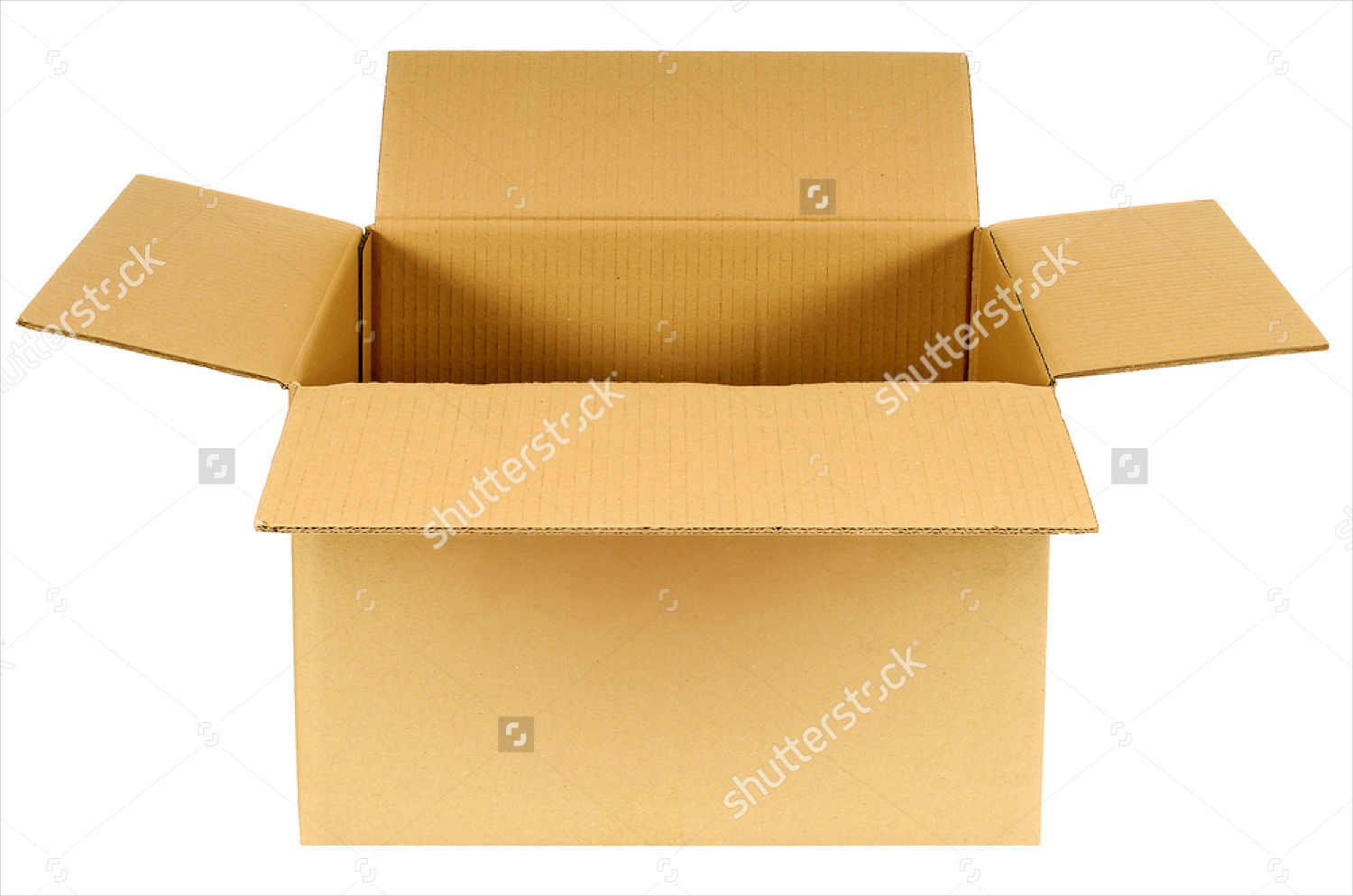 isolated open box cardboard package