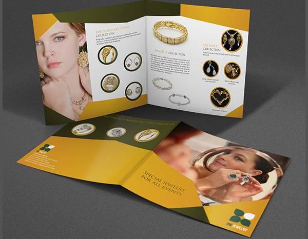 jewelry and accessories bi fold catalog