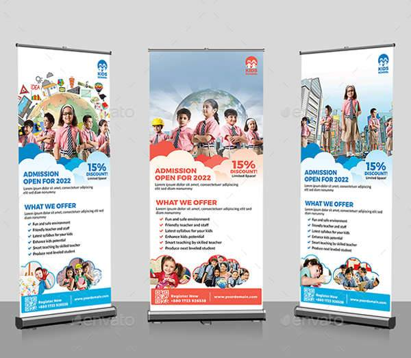 junior school promotion roll up banners