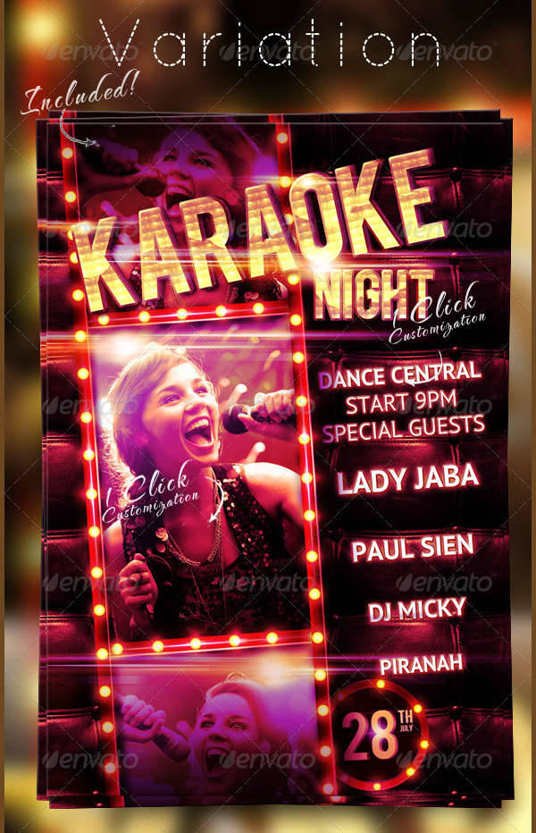 Karaoke Night Party Flyer Template