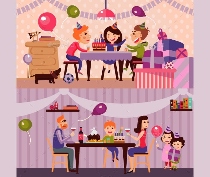 kids birthday party banner