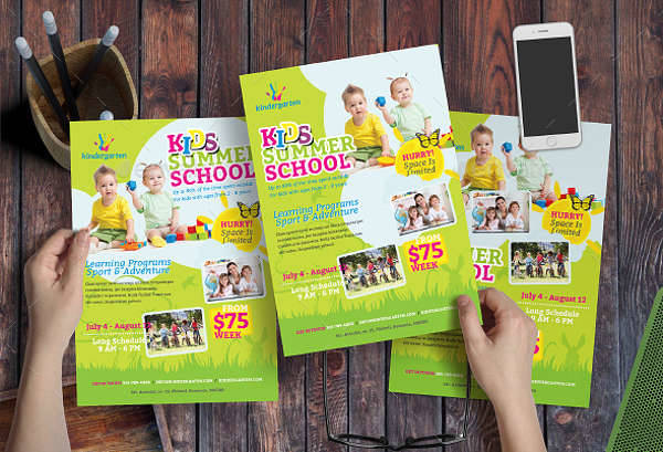 Kids Summer School Flyer