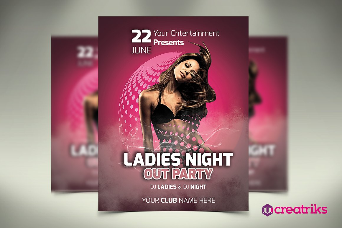Ladies Night Club Event Flyer