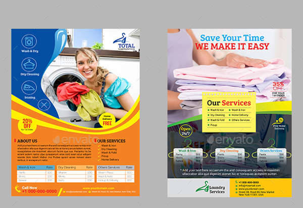 Laundry & Dry Cleaning Service Flyer