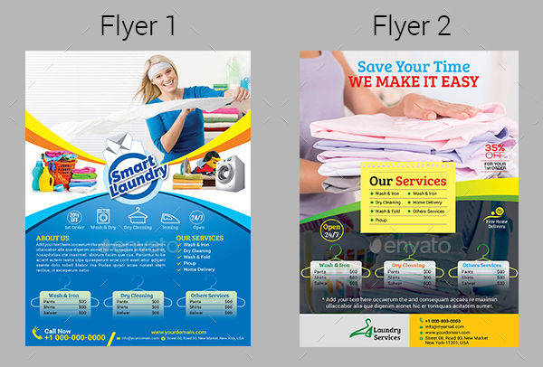 17 service flyers design trends premium psd vector for Laundry flyers templates