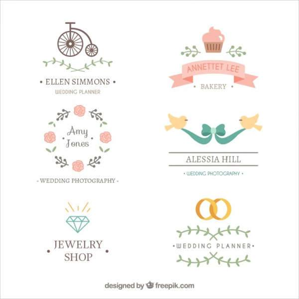 Lovely Wedding Logo Vector