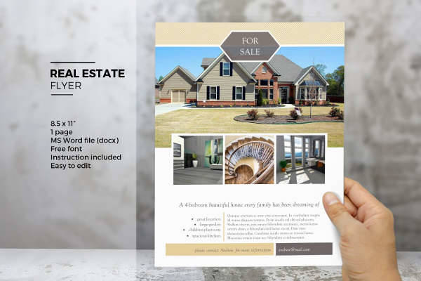 MS Word Real Estate Flyer