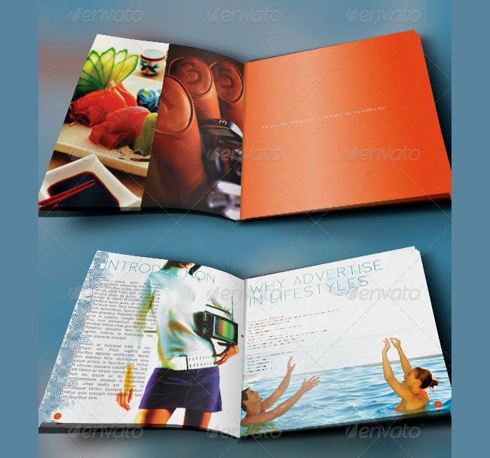 magazine media kit booklet