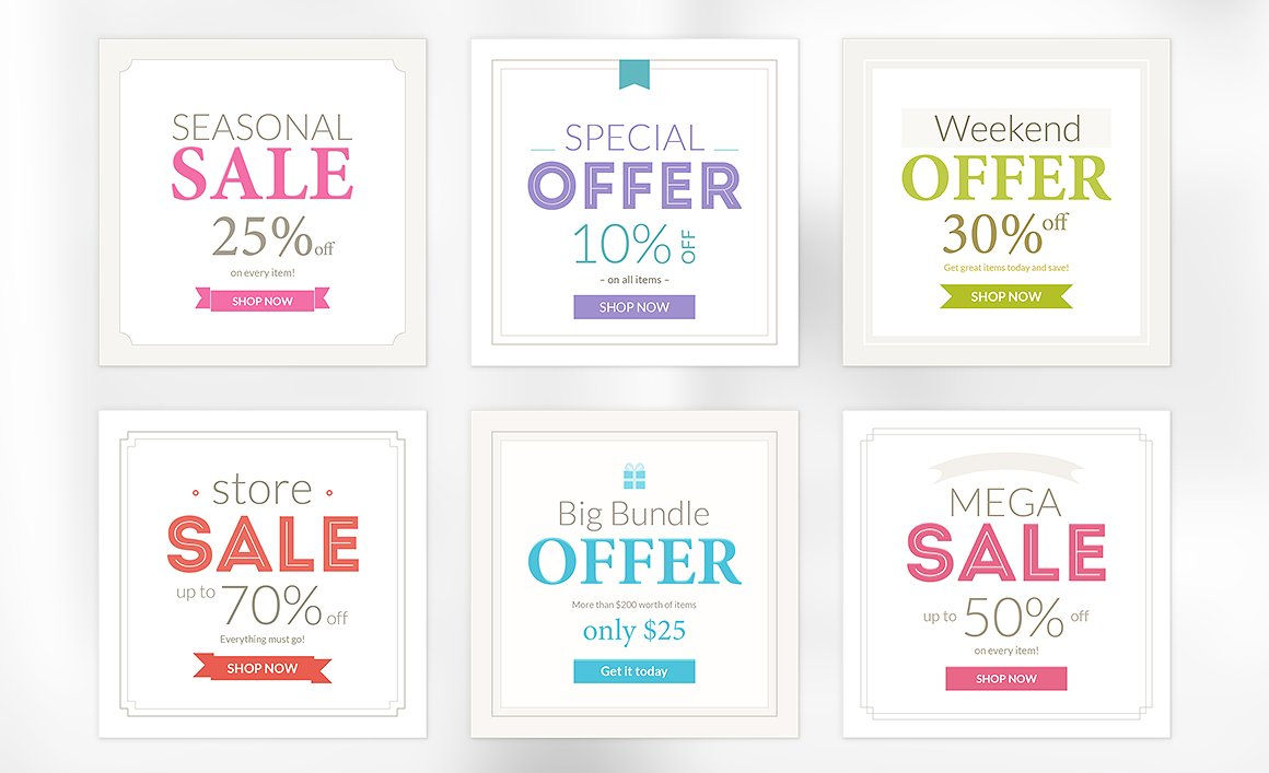 marketing promotion banners