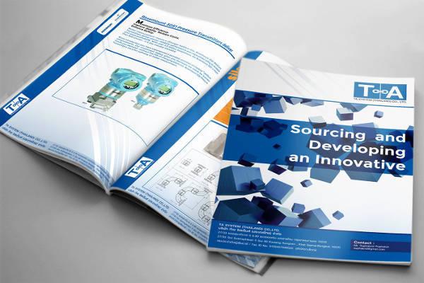 material design catalog brochure