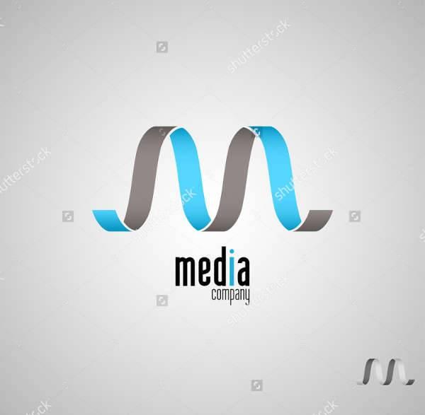 media company logo design
