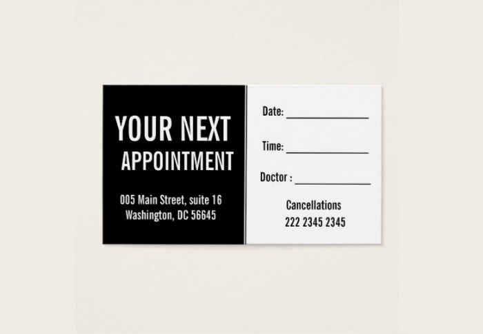 14  appointment card designs