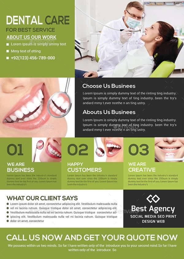 Medical Dental Care Health Flyer