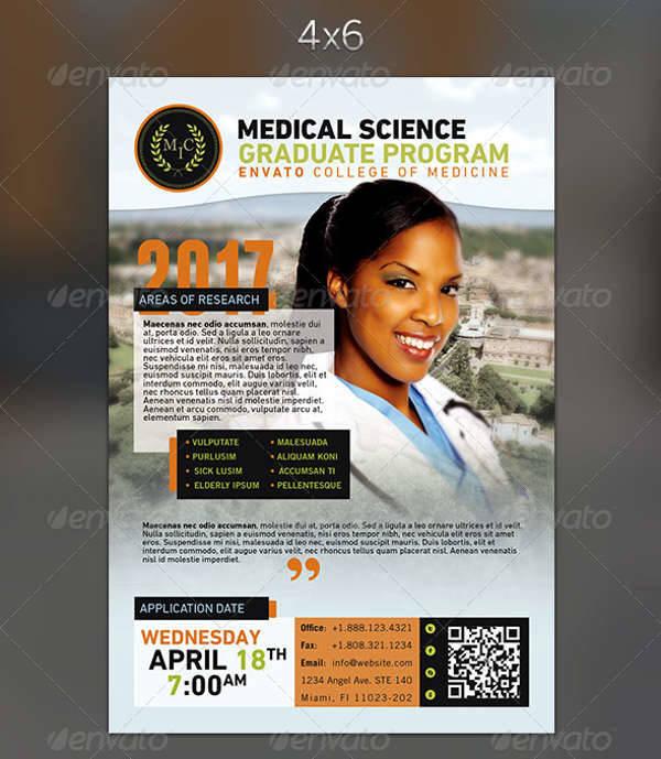 medical graduation program flyer