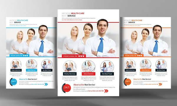 Hospital Flyer Template Medical Center Promo Ad Flyer  Best