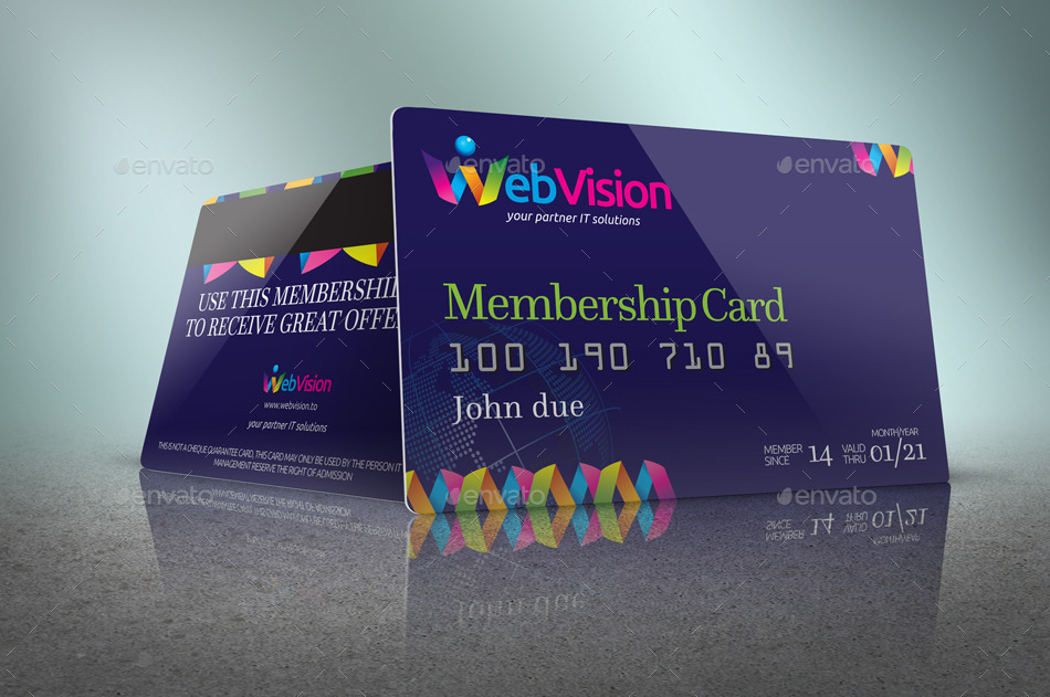 Membership Card Mockup  Membership Card Samples