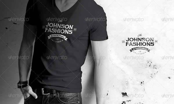 men t shirt mockup