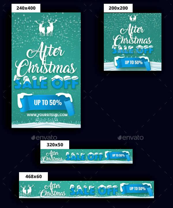 merry christmas banner ad design