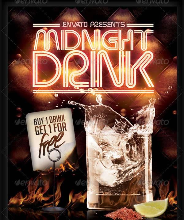Midnight Drink Flyer