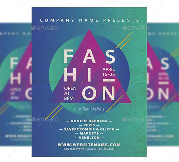 minimal fashion event flyer